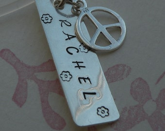 Peace Charm Tag Necklace