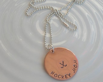 Hockey Mom Copper Necklace