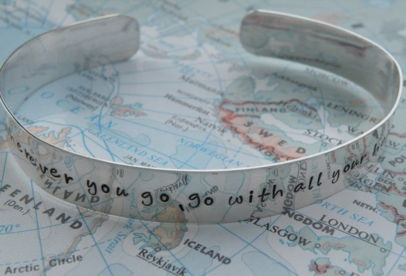 Go With All Your Heart Cuff Bracelet