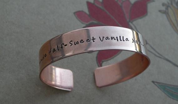 Custom Coffee Copper Cuff Bracelet