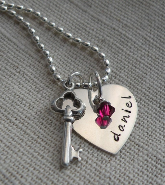 Personalized Key to Your Heart Necklace