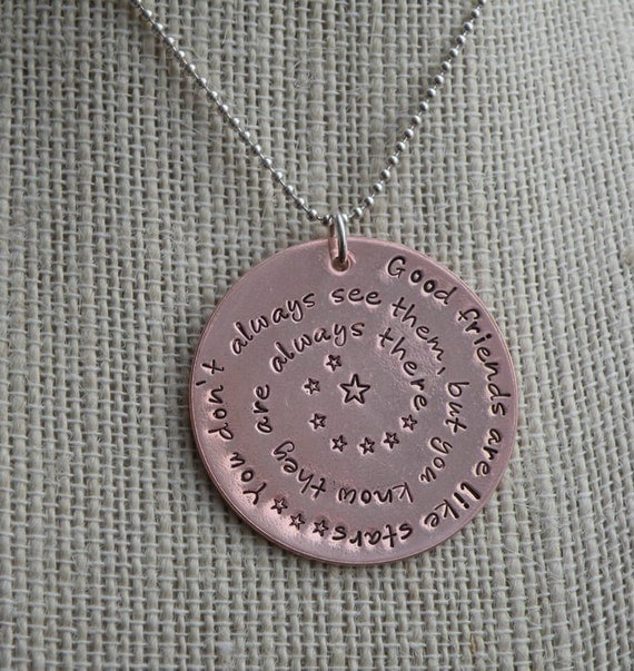 Good Friends Are Like Stars Inspirational Necklace