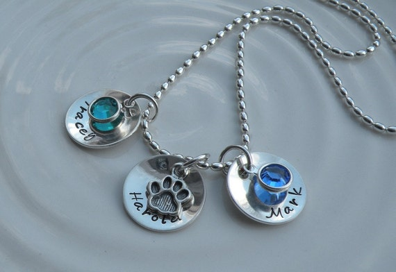 All My Children and Pet Birthstone Charm Necklace