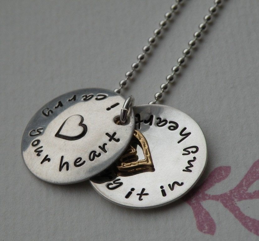 i carry your heart locket necklace