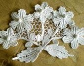 Cotton Lace Applique / Edwardian Vintage