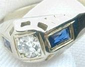 1930's Vintage Diamond Ring / White Gold