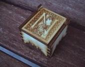 Secret Wood Box - Letters Collection - N -