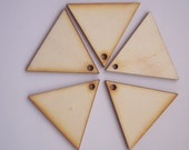10 Pieces TRIANGLE Shape Tile- For pendant earring decoupage...