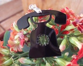 Black Telephone Pendant