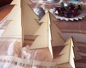 3D Christmas Wood tree set (3 pieces)