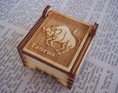 Secret Wood Box - Zodiac Collection - Taurus -
