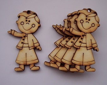 5 pieces Boy Design - Plywood 3 mm Unfinished