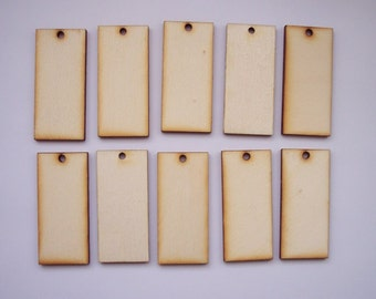 10 Pieces RECTANGLE Shape Tile- For pendant earring decoupage...