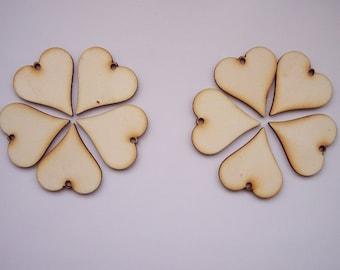 10 Pieces HEART Shape Tile - For pendant earring decoupage...