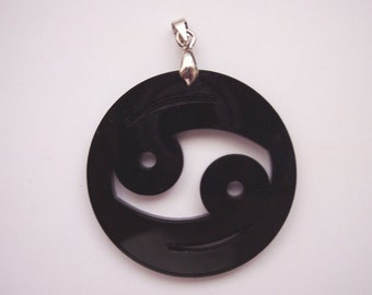 Cancer Zodiac Sign Pendant - 7 colors to select.