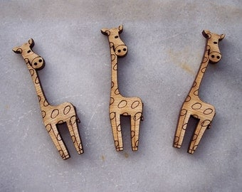 3 pieces Giraffe - Plywood 3 mm Unfinished