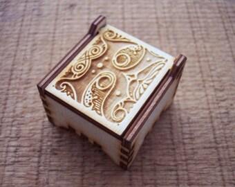 Secret Wood Box - Letters Collection - K -