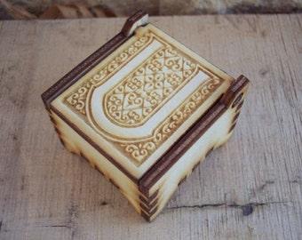 Secret Wood Box - Letters Collection - U -