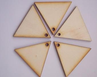 10 Pieces TRIANGLE Shape Tile- For pendant earring decoupage...
