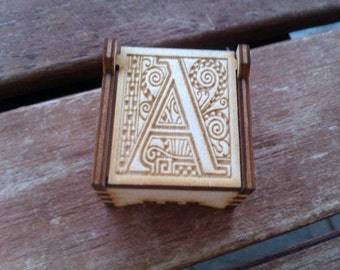 Secret Wood Box - Letters Collection - A -