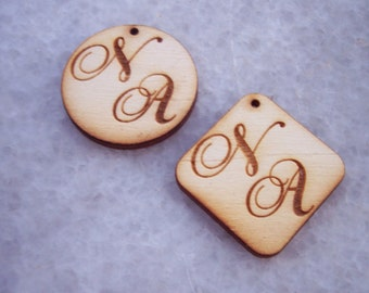 Custom Made Monograms Wedding Tags - 200 pieces