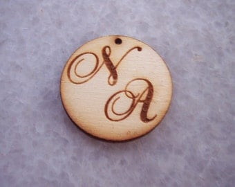 Custom Made Monograms Wedding Tags - 50 pieces