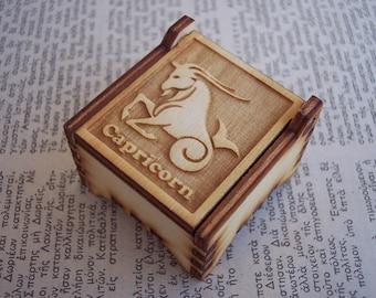 Secret Wood Box - Zodiac Collection - Capricorn -