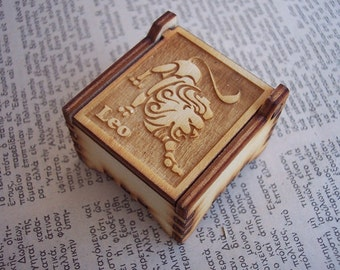 Secret Wood Box - Zodiac Collection - Leo -