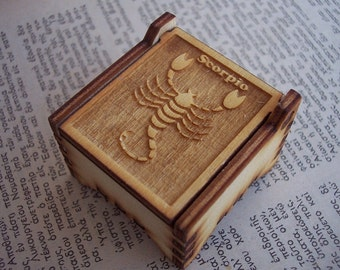 Secret Wood Box - Zodiac Collection - Scorpio -