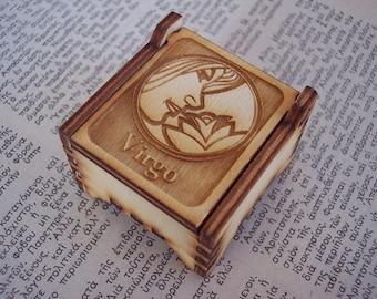 Secret Wood Box - Zodiac Collection - Virgo -