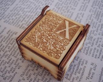 Secret Wood Box - Letters Collection - X2 -