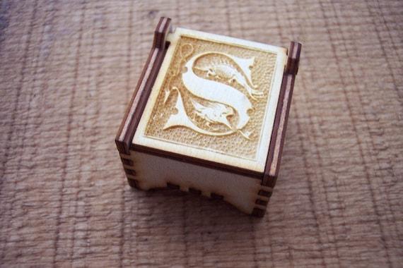 Secret Wood Box - Letters Collection - S -