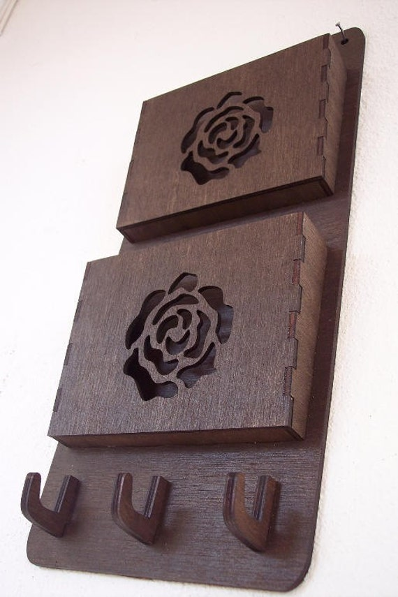 Wall Hanging For Bills and Letters with hooks for keys