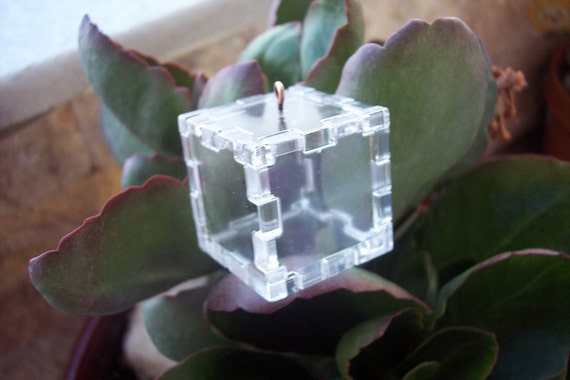 Story ... in a Cube - Small Size - DIY Origami Pendant
