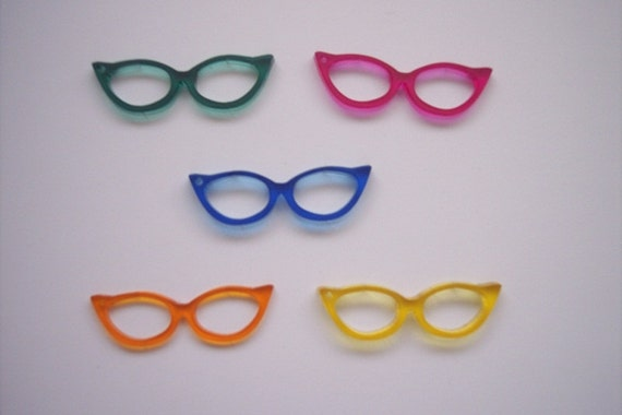 5 Pieces Glasses Charms (Multi color) CHM003