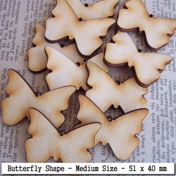 10 Pieces Butterfly Shape Tile- Medium Size