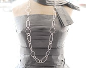 What Not - Sterling Silver Chain . Long Necklace . Short Double Necklace . Triple Bracelet . Must Have It . Essential Jewel