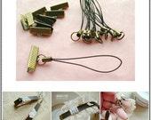 10pieces-3/4inch vintage-style clip for Purse/Necklace/Chain bracelet making (antique brass)