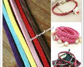 6yards (6colors)- Velvet rope for Tassel making / Jewelry making / Necklace Decoration  (purse bag making supply)