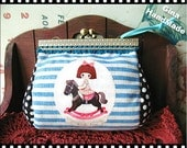 Carousel and Girl  Metal frame purse  / Coin Wallet / Bridal clutch/Pouch / Kiss lock frame bag-GinaHandMade