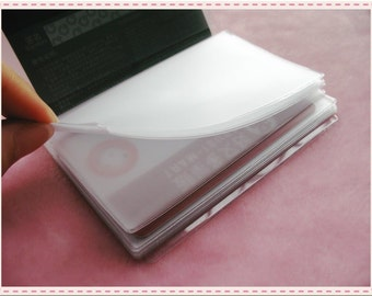 2piecs-20pages good quality card holder(organizer) for Card organizing wallet purse bag making