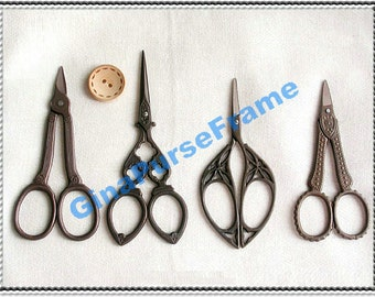 Antique-style Cutting scissors for fabric purse bag making (5type available)-1piece