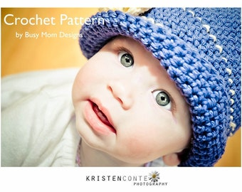 CROCHET Hat PATTERN - Daisy Cloche - All sizes included - Vintage style boutique hat - Sell your finished items - Easy - pdf 105