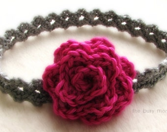 "CROCHET Headband PATTERN - ""Elegance"" - All sizes included - Beginner - PDF 301 - Sell what you Make"