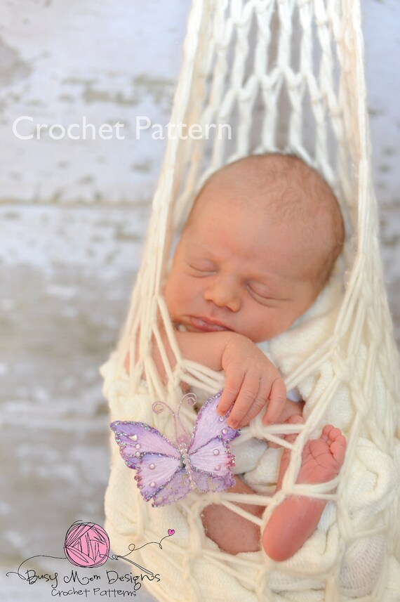 CROCHET PATTERN - Stork Pouch Hanging Pod -- Great Beginner Pattern -- Quick and Easy to Make - PDF 401 - Sell what you Make