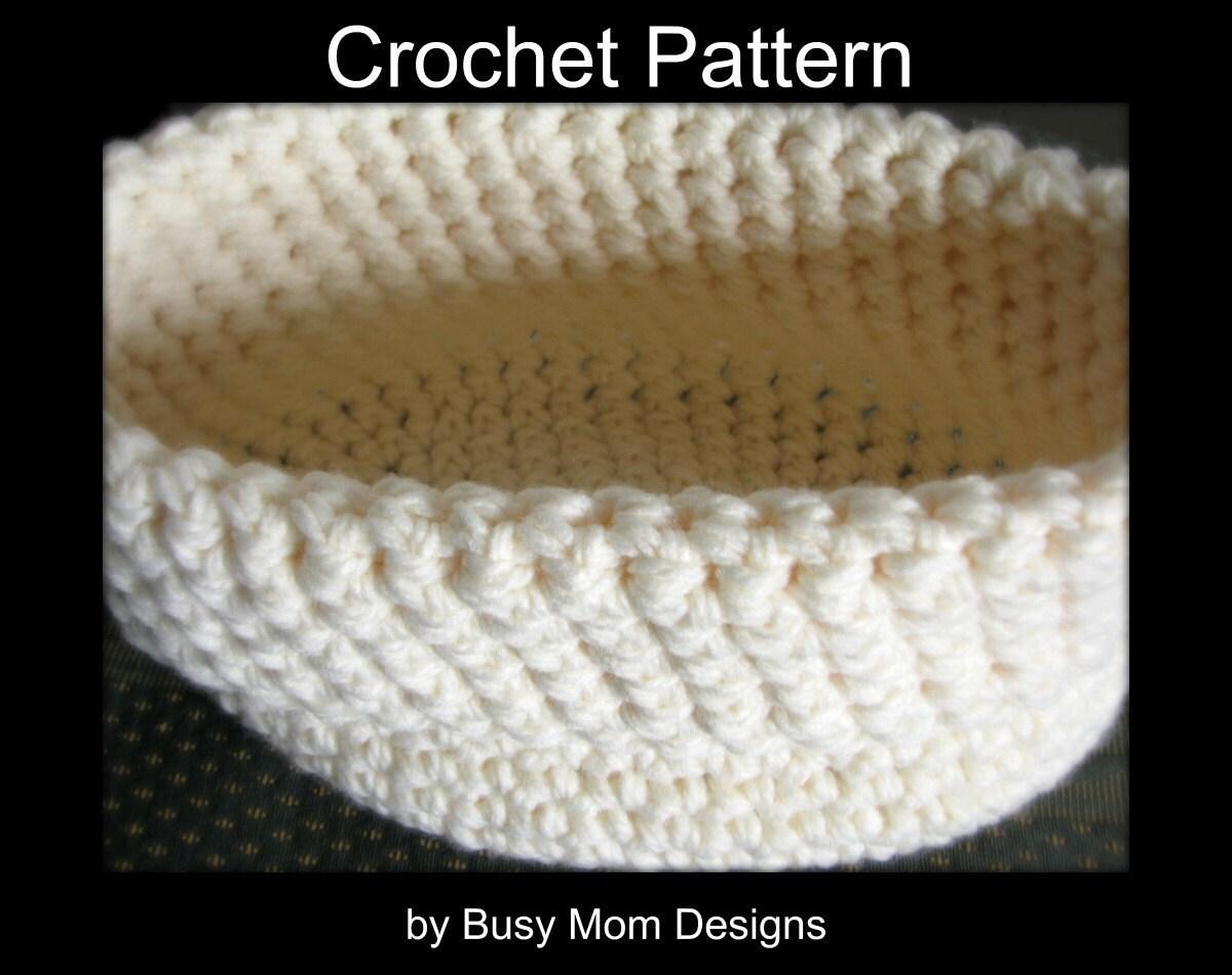 Free Crochet Pattern Newborn Nesting Bowl : CROCHET PATTERN Newborn Nest Baby Bowl 2 by BusyMomDesigns