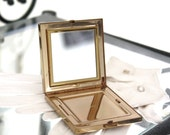 RARE Volupte' Swivel Mirror Lid Goldtone Compact