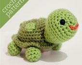 CROCHET PATTERN PDF - Amigurumi - Teensy Turtle Pal