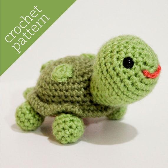 Amigurumi Turtle Crochet Patterns : Crochet pattern pdf amigurumi teensy turtle pal