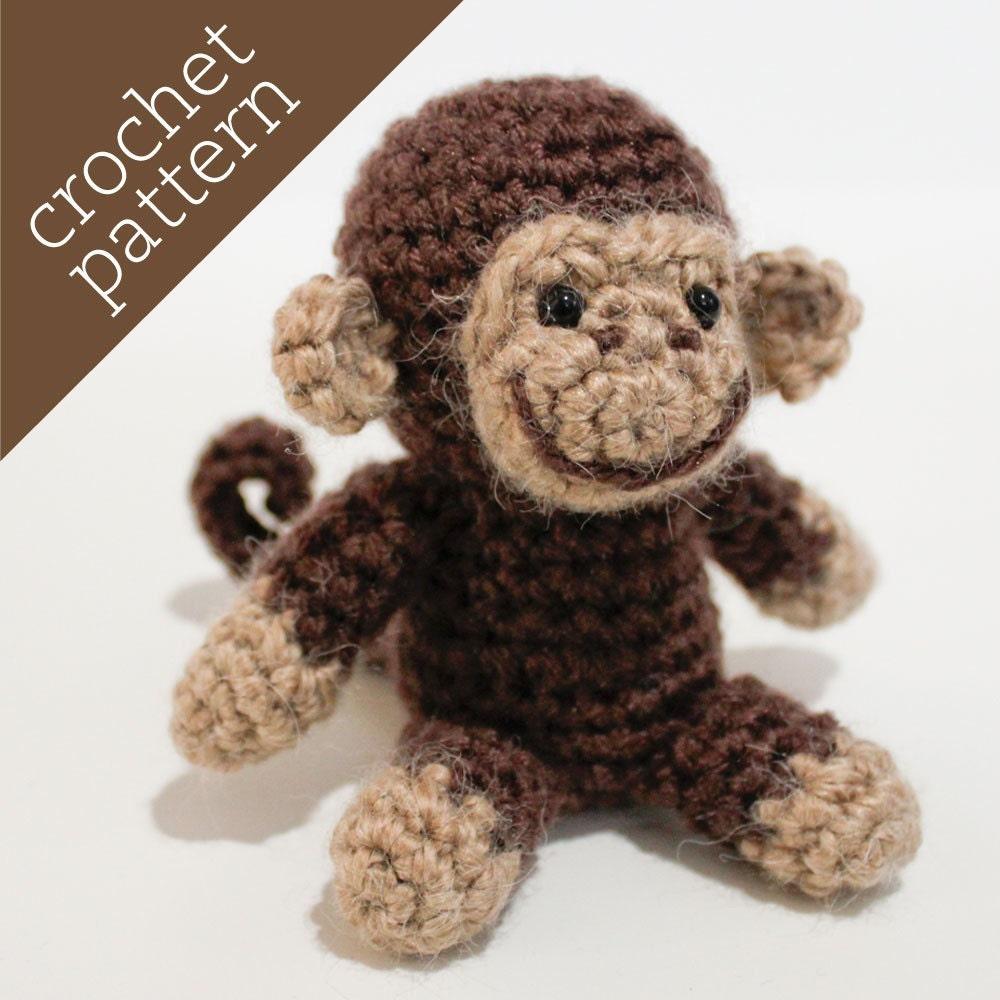 Monkey Amigurumi Knitting Pattern : CROCHET PATTERN PDF Amigurumi Spunky Monkey